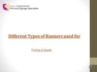 Different Types of Banners