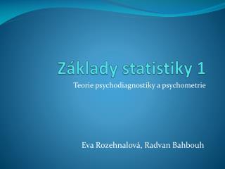 Z klady statistiky 1