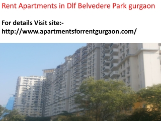 Rent Apartments in Dlf Belvedere Park gurgaon.
