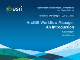 ArcGIS Workflow Manager An Introduction