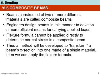 6.6 COMPOSITE BEAMS
