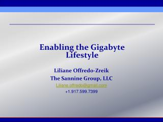 Enabling the Gigabyte Lifestyle