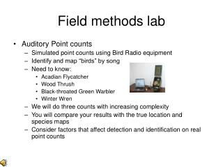 Field methods lab