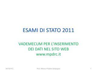 ESAMI DI STATO 2011