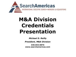 MA Division Credentials Presentation Michael D. Reilly