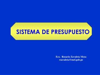 SISTEMA DE PRESUPUESTO
