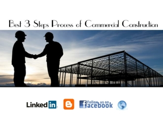 Best Steps Process Of Commercial Construction