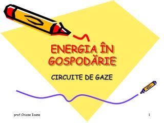 ENERGIA  N GOSPODARIE