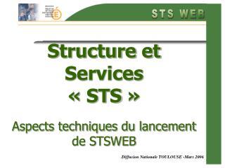 Structure et Services   STS     Aspects techniques du lancement de STSWEB
