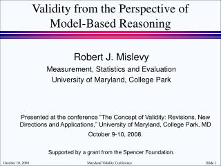 Validity from the Perspective of  Model-Based Reasoning
