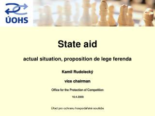 State aid  actual situation, proposition de lege ferenda