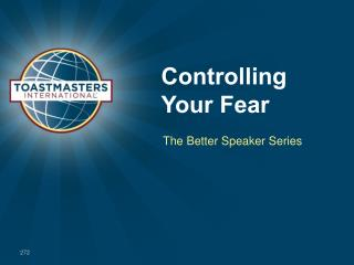Controlling Your Fear