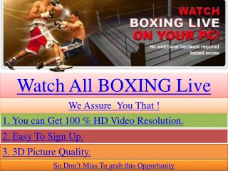 Garth vs Anthony Live satellite coverage BOXING match sopcas