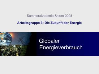 Globaler                          Energieverbrauch