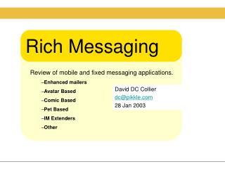 Rich Messaging