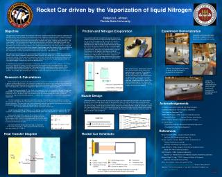 Rocket Car driven by the Vaporization of liquid Nitrogen