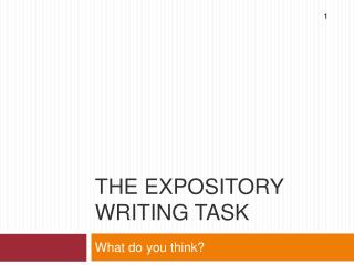 The expository writing task