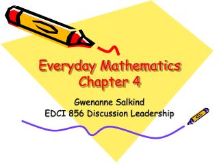 Everyday Mathematics Chapter 4