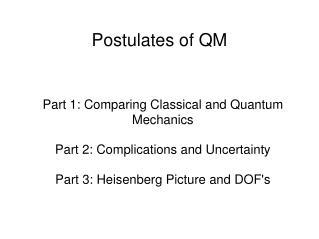 Postulates of QM