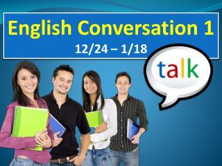 English Conversation 1 12