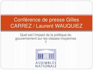 Conf rence de presse Gilles CARREZ