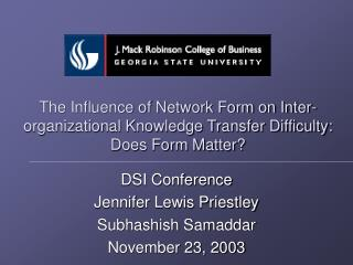 The Influence of Network Form on Inter-organizational Knowledge Transfer Difficulty: Does Form Matter