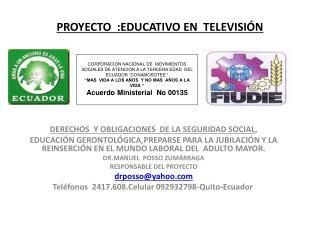 PROYECTO  :EDUCATIVO EN  TELEVISI??N