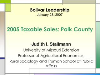 2005 Taxable Sales: Polk County