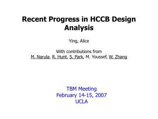 Recent Progress in HCCB Design Analysis