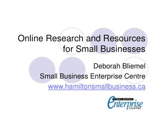 Online Research and Resources for Small Businesses