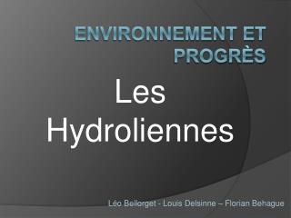 Environnement et progr s