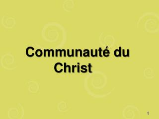 Communaut  du Christ