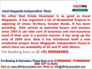 Ansal Megapolis Independent Floors