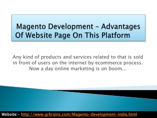 Advantages Of Website Page On This Platform