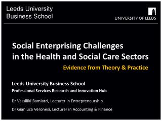 Social Enterprising Challenges  in the Health and Social Care Sectors