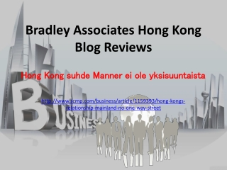 Bradley Associates Hong Kong Blog Reviews: Hong Kong suhde M