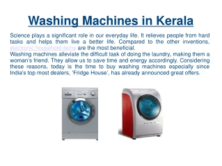Washing Machines In Kerala