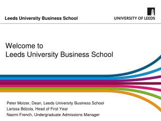 Welcome to  Leeds University Business School