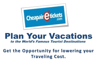 Book a Flight at Cheapest Price for Your Vacation Trip