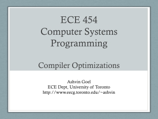 Computer Systems Programming