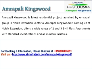 Sale Residential Apartment By Amrapali Kingswood Noida