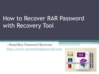 How to Recoevr RAR Password with Recovery Tool