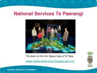 National Services Te Paerangi