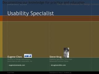 Usability Specialist