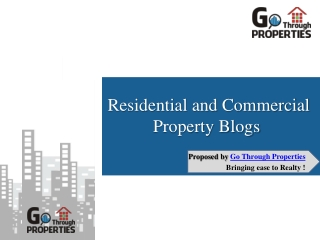 Residential and Commercial Property Blogs - GoThrough Properties, Bhopal