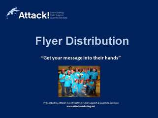 Street Team Case Study: Flyer & Postcard Distribution