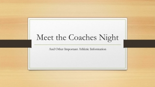 COACHES MEETING POWERPOINT
