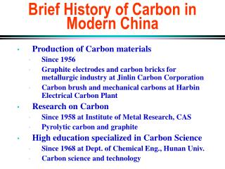 Brief History of Carbon in Modern China