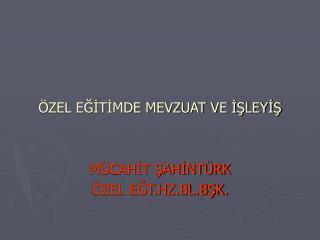 ZEL EGITIMDE MEVZUAT VE ISLEYIS   M CAHIT SAHINT RK  ZEL EGT.HZ.BL.BSK.