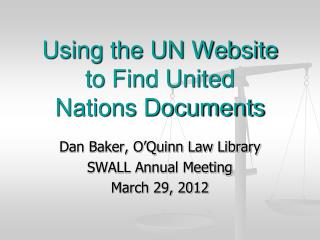 Using the UN Website to Find United Nations Documents